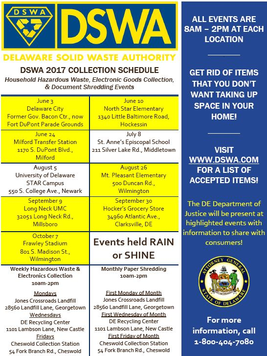 DSWA & DOJ Shred Events