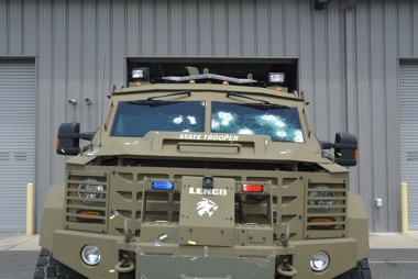 Damage to the DSP armored vehicle