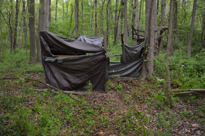 Tent structure where Francis was found