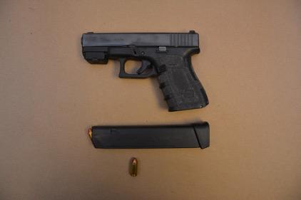 Glock 23 40 S&W S/N BMNW463, found in the woods