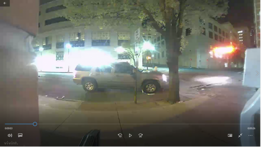 Ring Doorbell Camera minutes before Police Contact.