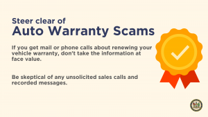 Steer clear of auto warrant scams
