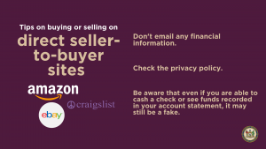 Tips on buying or selling on direct seller-to-buyer sites
