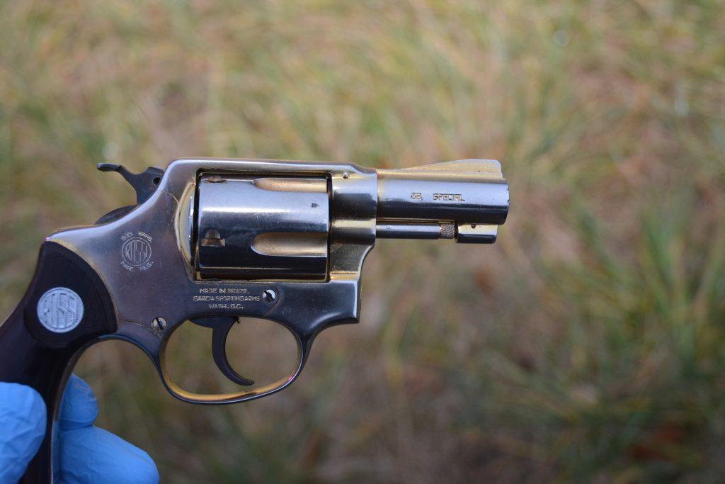 Recovered revolver.